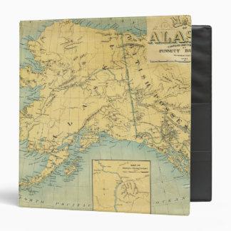 Map Of Alaska Vinyl Binders