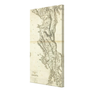Map of Albania Canvas Print