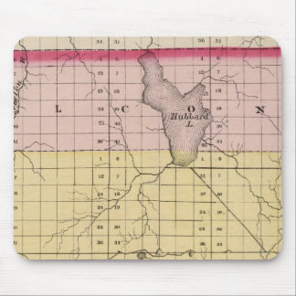 Map of Alcona County, Michigan Mouse Pad