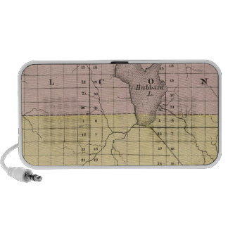 Map of Alcona County, Michigan Notebook Speakers
