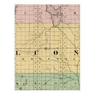 Map of Alcona County, Michigan Postcard