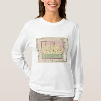 Map of Alcona County, Michigan T-Shirt