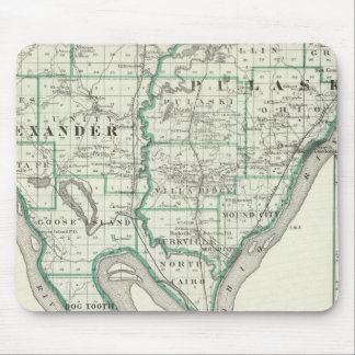 Map of Alexander & Pulaski counties Mouse Pad