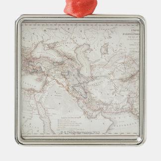 Map of Alexander the Greats Empire Metal Ornament