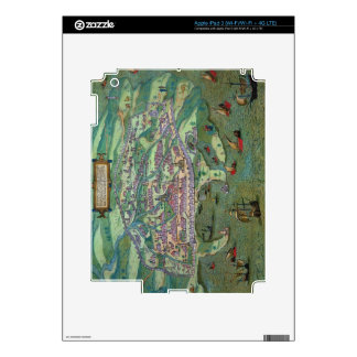 Map of Alexandria, from 'Civitates Orbis Terrarum' Decal For iPad 3
