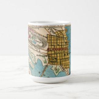 Map of Alexandria VA and Neighbor Cities Classic White Coffee Mug