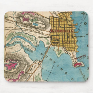 Map of Alexandria VA and Neighbor Cities Mouse Pad