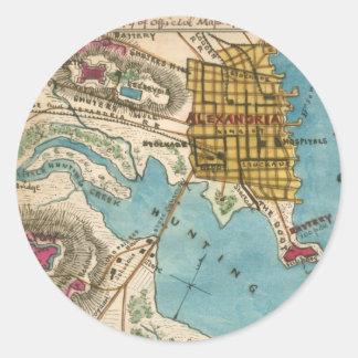 Map of Alexandria VA and Neighbor Cities Stickers