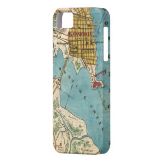 Map of Alexandria VA and Neighboring Cities iPhone SE/5/5s Case