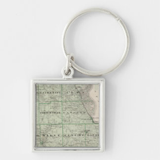 Map of Allamakee County Keychain