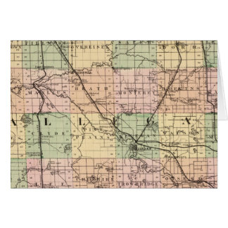 Map of Allegan County, Michigan Card
