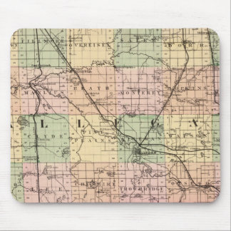 Map of Allegan County, Michigan Mouse Pad