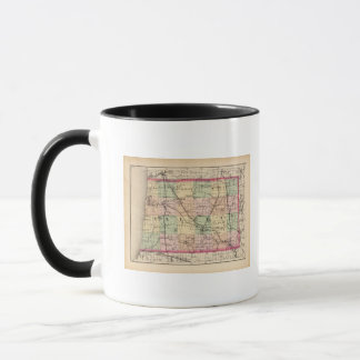 Map of Allegan County, Michigan Mug