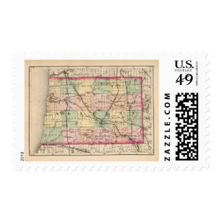 Map of Allegan County, Michigan Postage