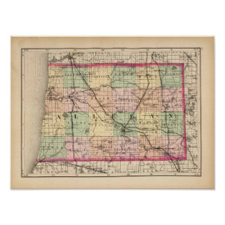 Map of Allegan County, Michigan Poster