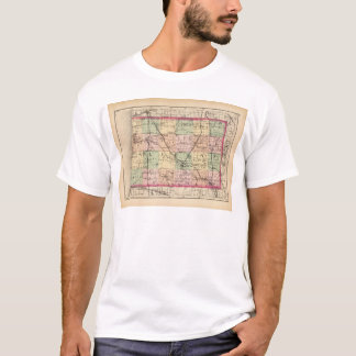 Map of Allegan County, Michigan T-Shirt