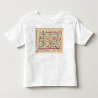 Map of Allegan County, Michigan Toddler T-shirt