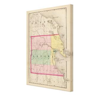 Map of Alpena County, Michigan Canvas Print
