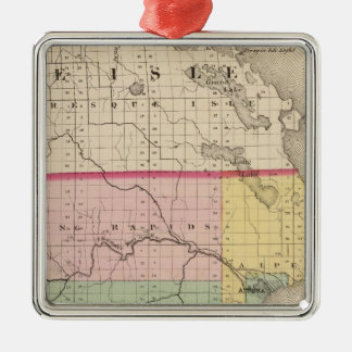 Map of Alpena County, Michigan Metal Ornament