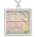 Map of Alpena County, Michigan Square Pendant Necklace