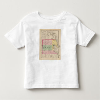 Map of Alpena County, Michigan Toddler T-shirt