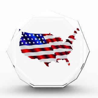 Map of America American Flag Award