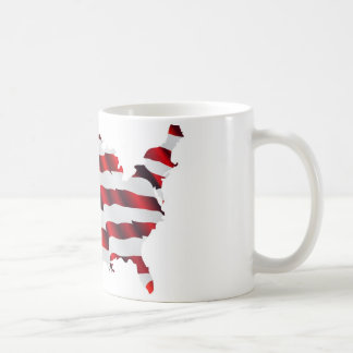 Map of America American Flag Coffee Mug