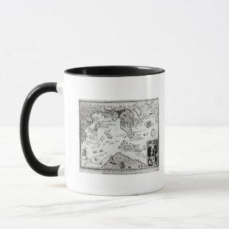 Map of America and directions to China Mug