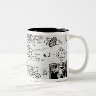 Map of America and directions to China Two-Tone Coffee Mug