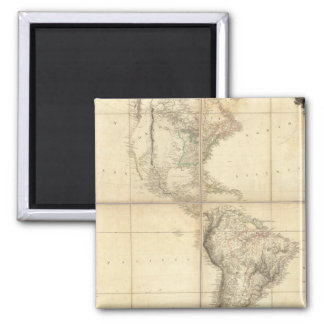Map of America by A Arrowsmith 2 Inch Square Magnet