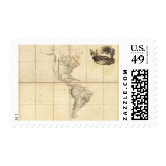 Map of America by A Arrowsmith Postage