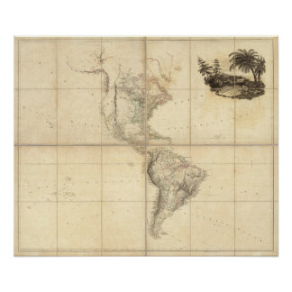 Map of America by A Arrowsmith Poster