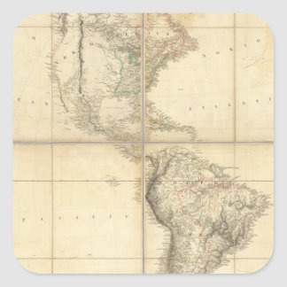 Map of America by A Arrowsmith Square Sticker