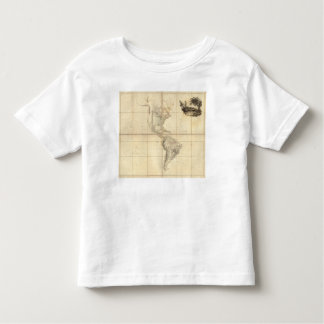 Map of America by A Arrowsmith T Shirt