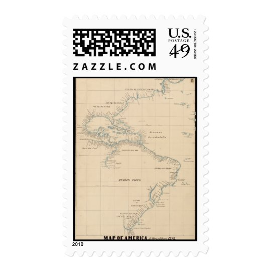 Map of America by Diego Ribero 1529 Postage