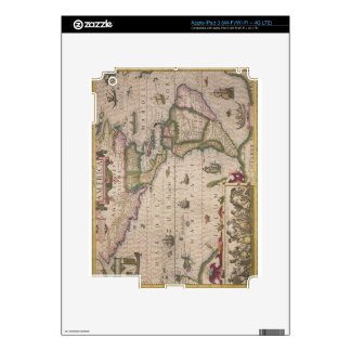 Map of America, from the Mercator 'Atlas', pub. by Decals For iPad 3