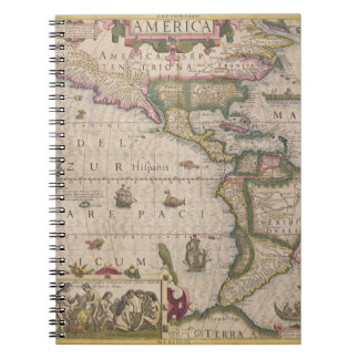 Map of America, from the Mercator 'Atlas', pub. by Spiral Note Book