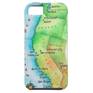 Map of American West Coast iPhone SE/5/5s Case
