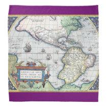 Map of Americas New World 1570 Bandanas at Zazzle