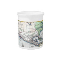 Map of Americas New World 1570 Beverage Pitcher at Zazzle