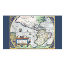 Map of Americas New World 1570 Business Card Template at Zazzle