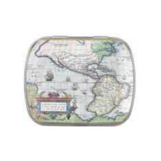 Map of Americas New World 1570 Candy Tins at Zazzle