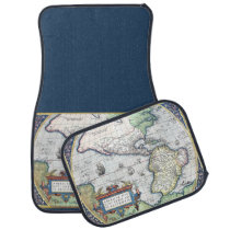 Map of Americas New World 1570 Car Mat at Zazzle