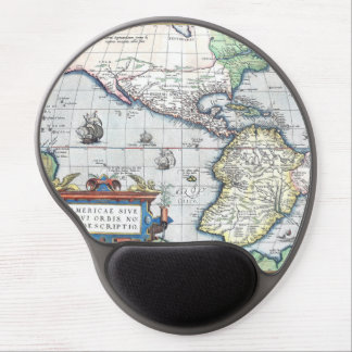 Map of Americas New World 1570 Gel Mouse Pad