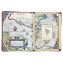 Map of Americas New World 1570 iPad Air Cases at Zazzle