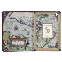 Map of Americas New World 1570 iPad Mini Covers at Zazzle