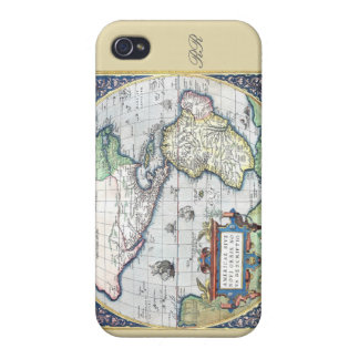 Map of Americas New World 1570 iPhone 4 Case