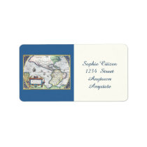 Map of Americas New World 1570 Personalized Address Label at Zazzle