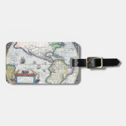 Map of Americas New World 1570 Luggage Tag at Zazzle