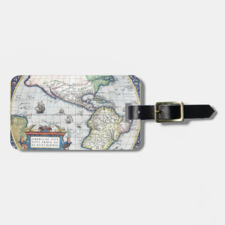 Map of Americas New World 1570 Luggage Tag